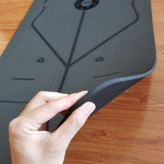 Thảm tập Yoga cao cấp có định tuyến – Chất liệu TPE, dày 8mm
