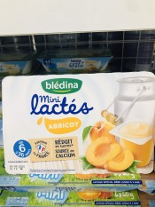 Sữa chua Bledina vị mơ cho bé trên 6m Pháp