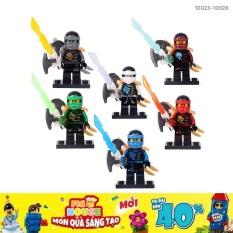 [Non-LEGO] Combo 6 Minifigures Nhân Vật Ninjago 10023-10028 – Đồ Chơi Lắp Ráp Xếp Hình