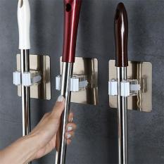 Móc treo chổi, cây lau nhà, cọ chà toilet… Móc kẹp dán tường tiện lợi – Móc treo đồ