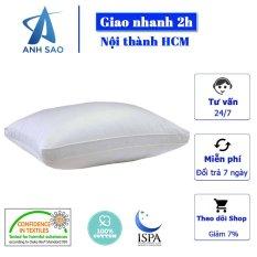 [GỐI CAO CẤP CHUẨN 5 SAO] Gối Lông Vũ Microfiber Cao Cấp Ánh Sao (L: 50 x 70cm hoặc XL: 60 x 80cm) đạt tiêu chuẩn quốc tế OEKO-TEK về vải an toàn với sức khỏe người sử dụng, nội thất phòng ngủ cao cấp