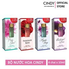 Bộ 4 chai nước hoa Cindy 10ml (Mystic Fairy + Pinky Sweet + Enchanted Love + Passionate Kiss)