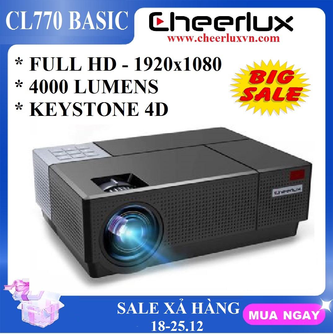 [Nhập ELJAN11 giảm 10%, tối đa 200k, đơn từ 99k]Máy chiếu FULL HD Cheerlux CL770 projector 1920x1080 đèn Led 175W...