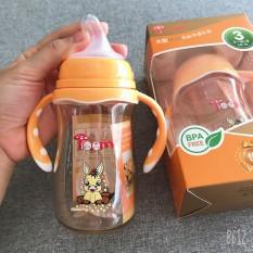 [Mã FMCG8 giảm 8% đơn 500K] [Tặng 1 núm] Bình Sữa TOOM PPSU cổ rộng có tay cầm quai cầm cho bé