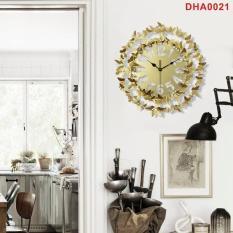 Đồng hồ trang trí treo tường cao cấp DHA0021 – Họa tiết hình bướm