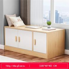 Tủ gỗ thấp tủ kê cửa sổ, ban công nhiều ngăn có cánh cửa, tủ kê dọc tường tiện lợi đa chức năng