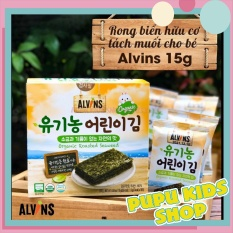 Rong biển hữu cơ tách muối ALVINS cho bé ăn dặm, rong biển ăn liền Hàn Quốc
