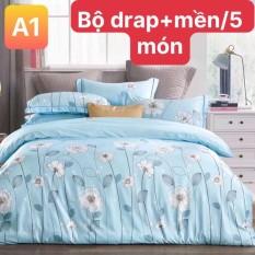 Bộ drap CÓ MỀN Tencel vải nhập Hàn Quốcđỉnh cao mát mềm mại { drap mền và 3 áo gối} 1m6 X 2m hoặc 1m8 x 2m