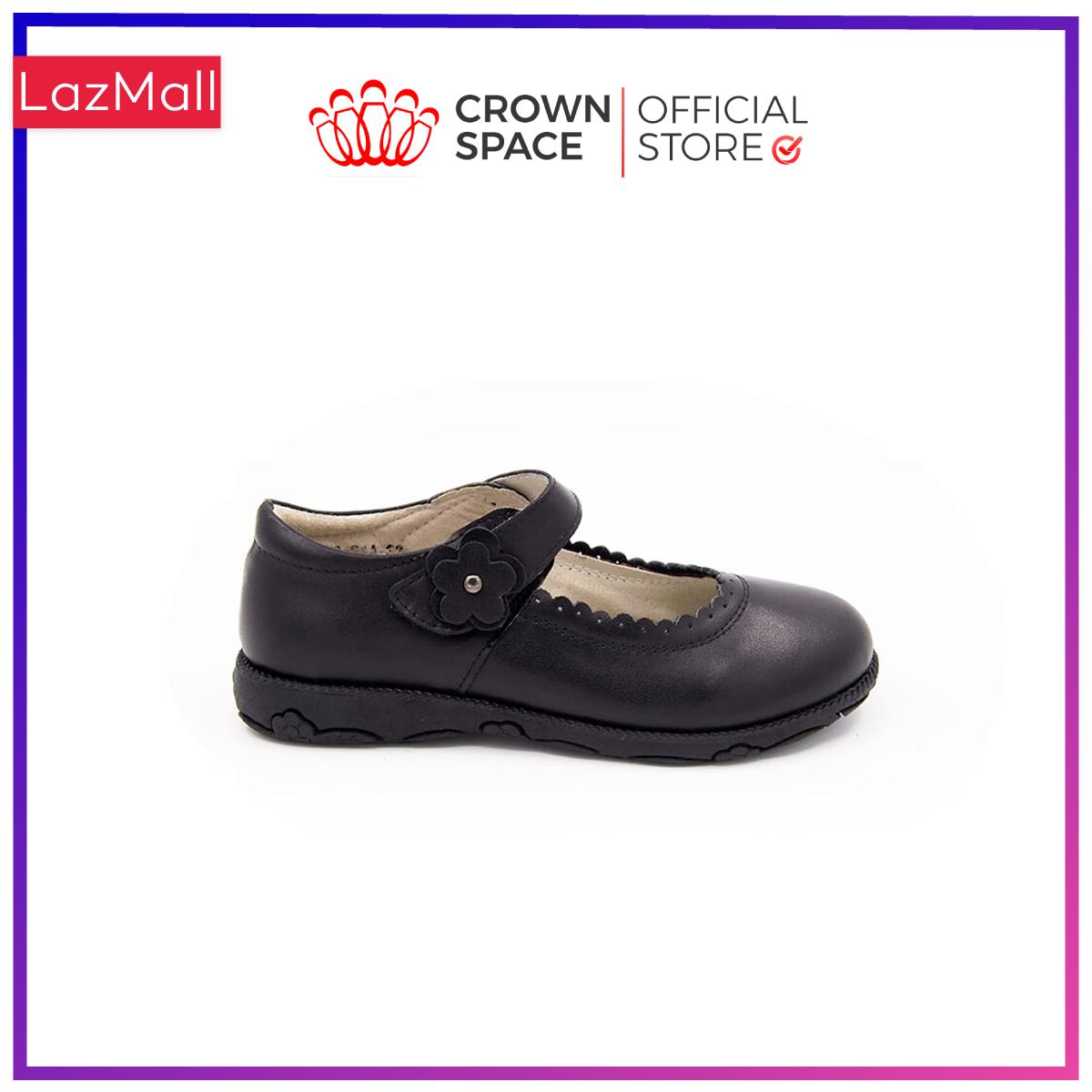 Giày Búp Bê Đi Học Bé Gái Crown Space UK School Shoes CRUK3041 Cao Cấp Nhẹ Êm Thoáng Mát Size 30-36/4-14 Tuổi