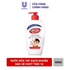 Nước rửa tay sạch khuẩn Lifebuoy Bảo Vệ Vượt Trội 10 500G