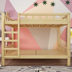 Giường tầng gỗ thông mộc 100x190x160cm không kèm đệm – Giường tầng gỗ thông