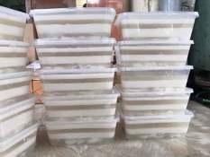 Combo 10 bộ hộp đựng thực phẩm 1000ml, hộp chữ nhật có nắp, khay lam rau câu, đựng đồ ăn