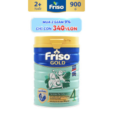 [Mua 2 lon, Chỉ còn 340K/lon] Sữa bột Friso Gold 4 900g cho trẻ từ 2-4 tuổi