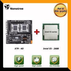 Combo Bo mạch chủ HUANANZHI X79 4D + dual Intel E5 2680 LGA2011, DDR3 non-ECC ram, Nonotree, Tốt hơn i7 i5, trò chơi trực tiếp, máy chủ, đa nhiệm, studi