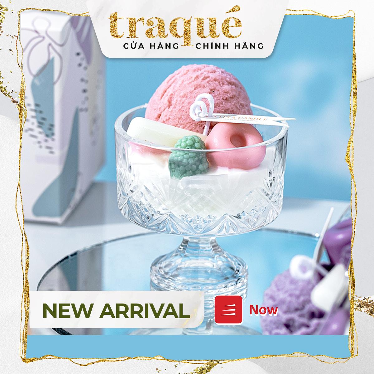 [Có sẵn – 4 mùi] Nến CITTA trang trí hình ly kem – 4 trải nghiệm ngọt ngào