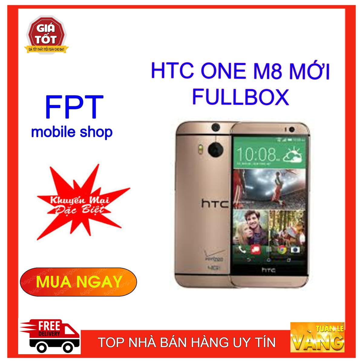 ĐIỆN THOẠI HTC ONE M8 NEW FULLBOX RAM 2GB BẢO HÀNH 1 NĂM
