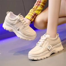 Giày sneaker nữ Rong Ye chất da đẹp kiểu hàn quốc mới nhất , Hot Trend HAPU (kem, trắng)
