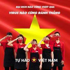Combo 5 chiếc khẩu trang vải chống bụi in chữ Tự Hào Việt Nam siêu hót, dày dặn có thể giặt được nhiều lần,