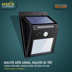 Đèn năng lượng mặt trời, den nang luong mạt troi tiết kiệm điện, LED siêu sáng trong nhà, ngoài trời, có cảm biến tự động ánh sáng trắng 20-30 bóng, dễ dàng lắp đặt, chống mưa HL143