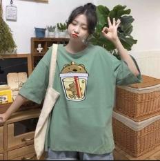 Áo Thun Nam Nữ Form Rộng Hàn Quốc In Trà Sữa Thân Trước Độc Đẹp Vải Dày Mịn Thoáng Mát Thiết Kế Thời Trang Kiểu Dáng Năng Động Trẻ Trung ( xANH )