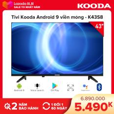 Tivi Kooda 43inch FULL HD hệ điều hành Android 9 TV viền mỏng – K43S8 – Remote Bluetooth tích hợp-Tivi giá rẻ chất lượng – Bảo hành 2 năm