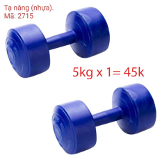 TẠ TAY 5 KG TẠ NHỰA TẬP GYM ( chỉ 1 CỤC / 5 KG )