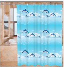Màn treo nhà tắm Cá Heo size 1m8 x 1m8