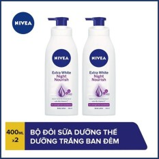 COMBO 2 Sữa dưỡng thể trắng da Nivea Ban đêm 400mlx2