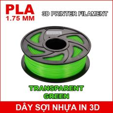 Dây sợi nhựa PLA in 3D 1.75mm 1Kg Transparent Green