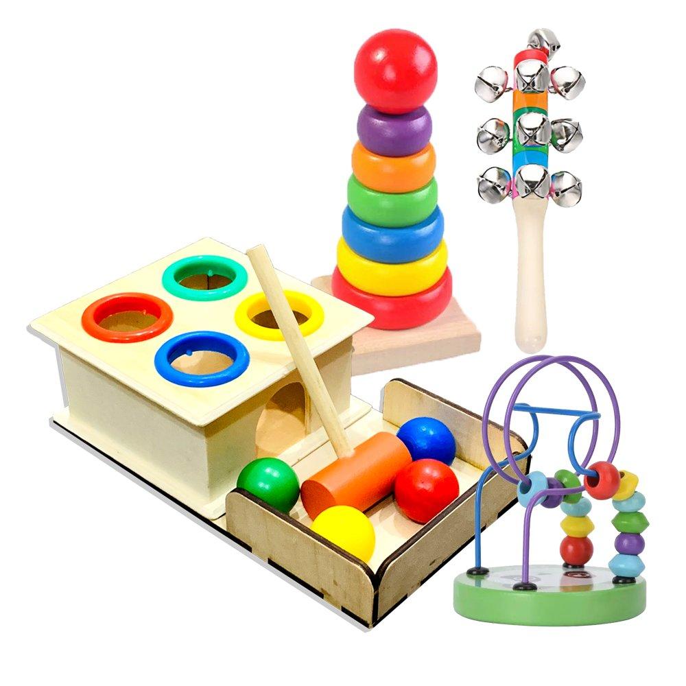 Đồ Chơi Gỗ Thông Minh Giúp Bé Phát Triển Tư Duy Sản Xuất Theo Phương Pháp Montessori Cho Trẻ Vừa...