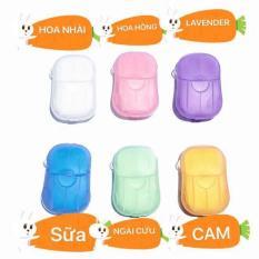 HY COMBO 2 HỘP SOAP Xà phòng, Xà bông miếng, Đủ hương , thuận tiện đem theo bên mình ,hộp 20 miếng(4x6cm) rửa tay tiện dụng