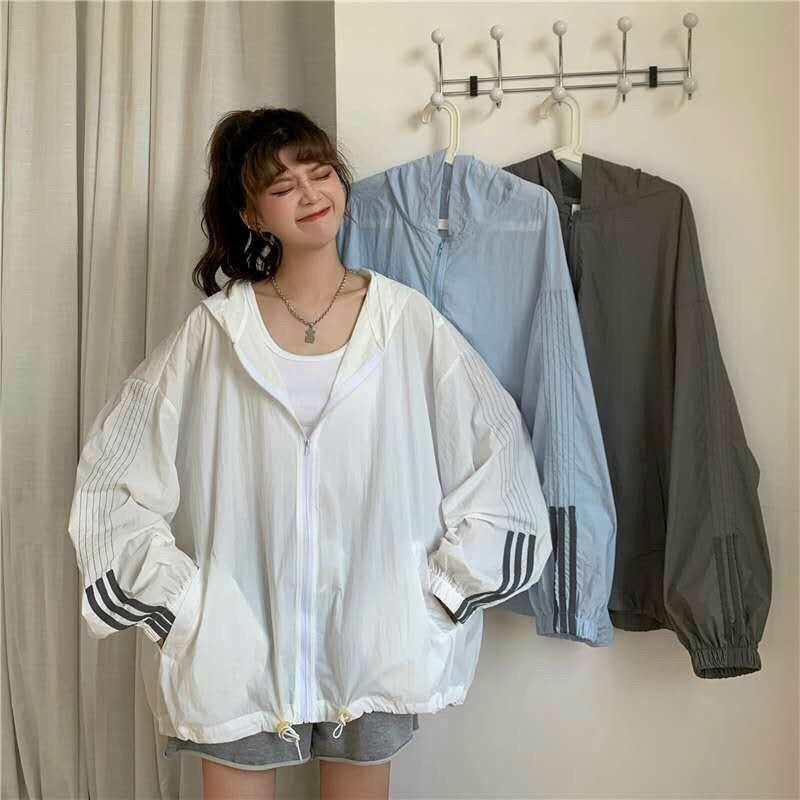 [ HÌNH THẬT 100% ] Áo Khoác UNISEX Nữ Sọc Tay Mẫu Mới Cực Xinh Hot Trend - CLITUS FASHION