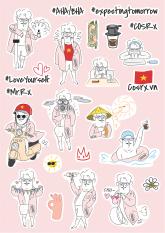 [Hàng tặng không bán] Sticker COSRX Mr.X