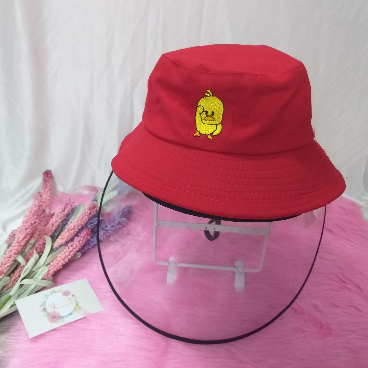 Mũ nón bucket có kính chắn gió chống dịch, chống bụi cho trẻ em