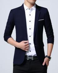 Áo Khoác Vest Nam Hàn Quốc Thời Trang Đẹp Vải Dày Mịn Màu Xanh – TTN00139