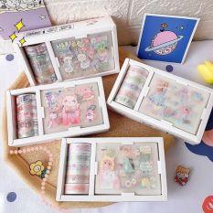 Hộp Sticker Trang Trí và Băng Keo Sticker Trang Trí Cute Dễ Thương Cho Bé