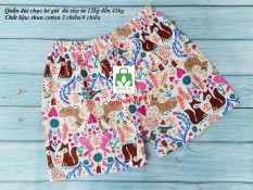 Quần đùi chục bé gái size đại đến 45kg-set 5 quần-vải xuất xịn đẹp loại 1