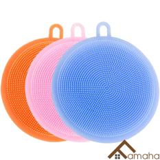 [Bộ 3] Miếng cọ rửa chén bát đa năng bằng Silicon siêu sạch, có thể dùng làm tấm lót nồi chống nóng, lót cốc, cọ rửa củ quả