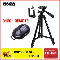 Gậy 3 chân Tripod TF 3120 mẫu mới 2018 ( tặng kèm đầu kẹp điện thoại và remote)