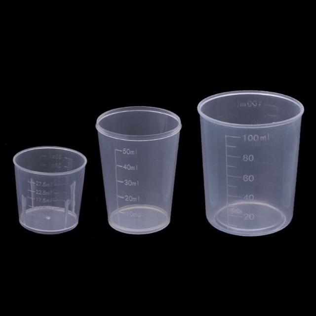 Cốc nhựa có chia vạch 30ml, 50ml, 100ml, 200ml