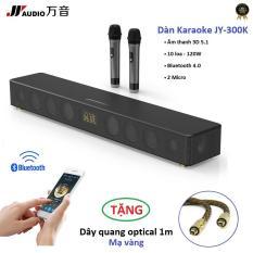 Dàn Karaoke JY Audio TVS 300K Soundbar Bluetooth 120W âm thanh 5.1 – Tặng dây quang vàng