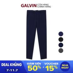 GALVIN_ Quần âu nam chính hãng 4 màu basic , quần tây nam dáng ôm trẻ trung lịch lãm không nhăn co giãn nhẹ QAGV3