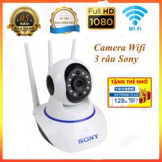 [ Có Combo thẻ nhớ 128 GB] Camera IP Wifi giám sát và báo động SONY 1080P 3 Râu -Đàm thoại 2 chiều – Bảo hành 5 NĂM