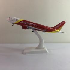 Mô hình máy bay A320 kim loại 20cm dòng Airbus A320 món quà tặng trưng bày phù hợp với bàn làm việc, kệ ti-vi, giá sách như một món đồ sang trọng và sáng bóng