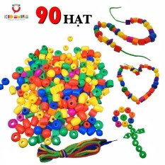 Đồ chơi trẻ em xâu 90 hạt ( kèm 3 dây xâu ) nhiều màu sắc giúp trẻ phát triển khả năng tập trung quan sát
