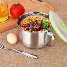 [TẶNG KÈM MUỖNG INOX XỊN ] Ca inox đựng cơm, nấu mì đa năng, hộp cơm inox, ca nấu mì 1300ML