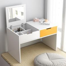 Tâm House Bàn trang điểm bệt gương gập, 2 ngăn kéo – MK11