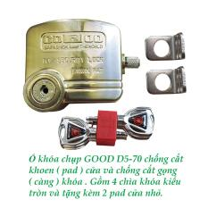 Ổ khóa chụp chống cắt khoen cửa – chống cắt gọng khóa GOOD D5-70 .Có hướng dẫn sử dụng bằng video.