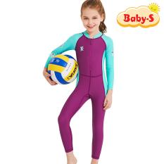 Đồ bơi dài tay cho bé chống nắng và tia UV toàn thân cao cấp DIVE & SAIL cho bé trai bé gái từ 3 đến 11 tuổi Baby-S – SDB014