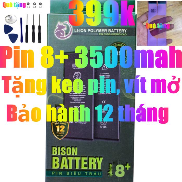 Pin iPhone 8 Plus dung lượng cao 3500mAh BISON chính hãng